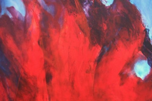 Vuur en lucht, 50 x 65, acryl op papier
